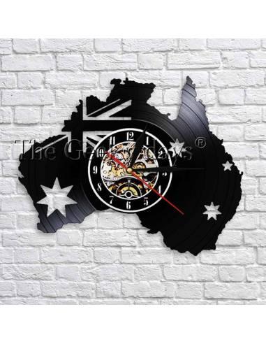Carte Australie Deco.Australie Kangourou Carte 02 Horloge Disque Vinyle Deco