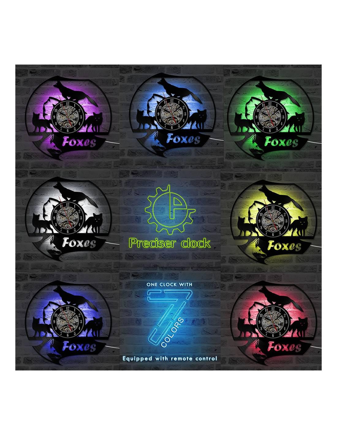 Loup 03 Horloge Disque Vinyle D 233 Co