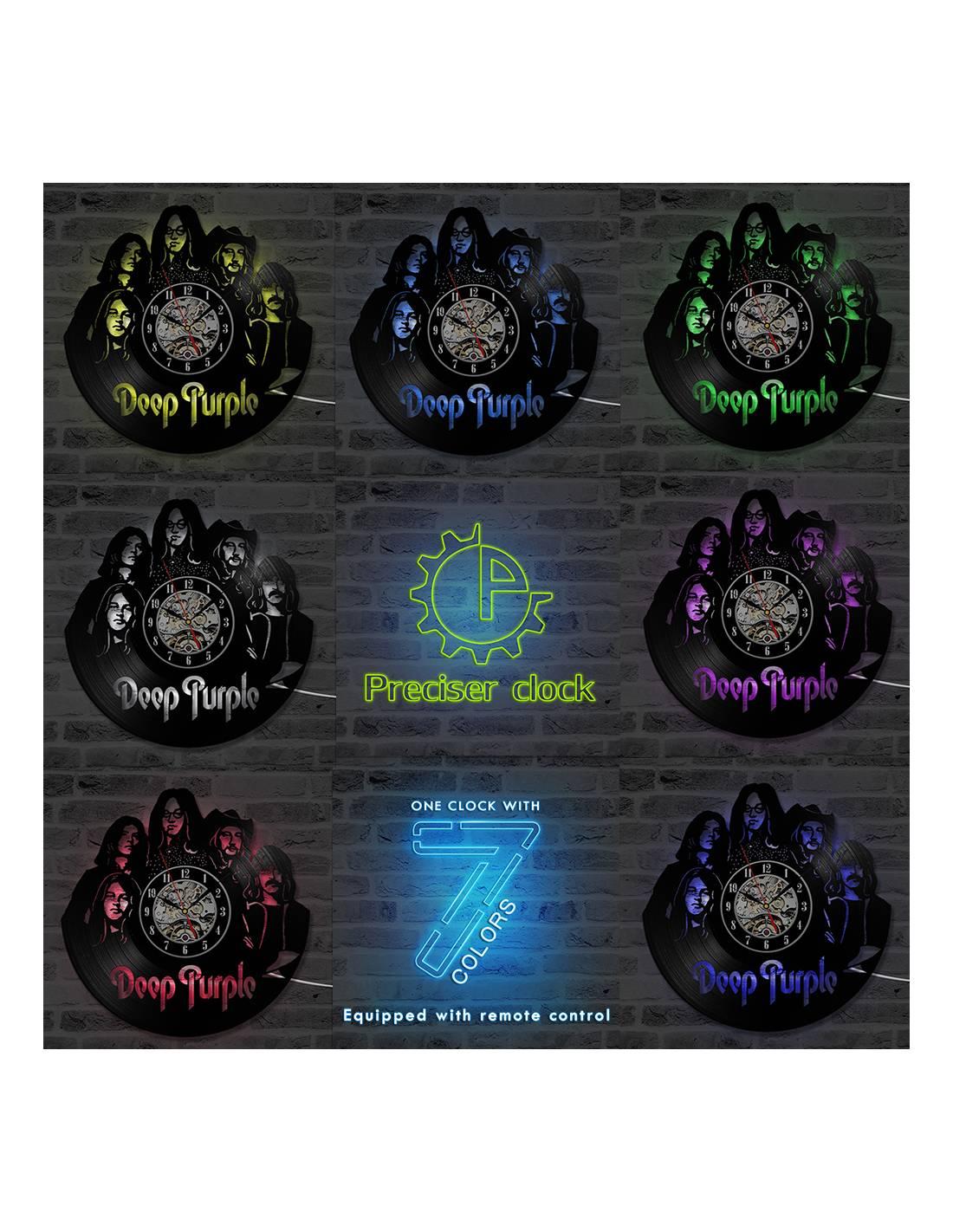 Deep Purple 01 Horloge Disque Vinyle D 233 Co