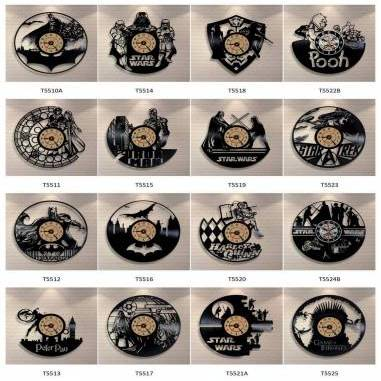 All models - Vinyl record wall clock
